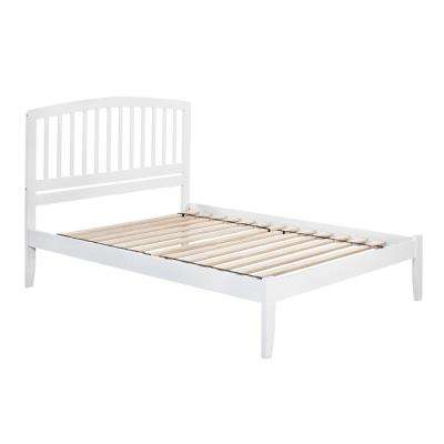 Richmond White Queen Platform Bed with Open Foot Board