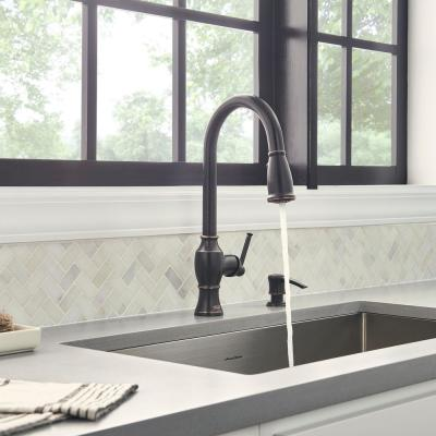 Marchand Single Handle Pull-Down Sprayer Kitchen Faucet in Legacy Bronze