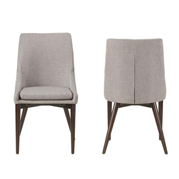 Nobleton Smoke Linen Dining Chair (Set of 2)