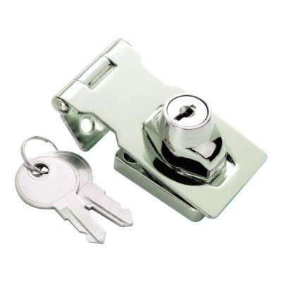 2-1/2 in. Chrome Keyed Hasp Lock