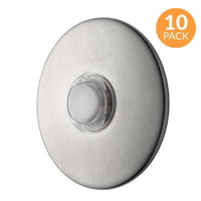 2-1/2 in. Round Lighted Wired Doorbell Push Button, Satin Nickel (10-Pack)