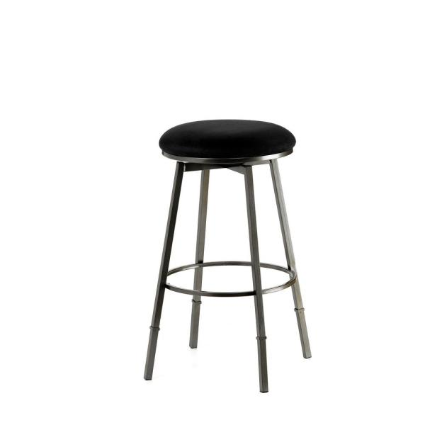 99a55bbcdf0ce4 Hillsdale Furniture Sanders Adjustable Height Pewter Cushioned Bar Stool