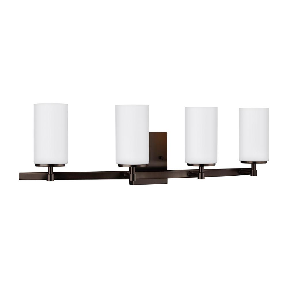 Sea Gull Lighting Alturas 30 5 In 4 Light Brushed Oil Rubbed Bronze Vanity