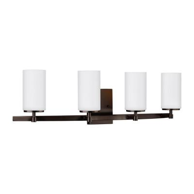 Alturas 30.5 in. 4-Light Brushed Oil Rubbed Bronze Vanity Light