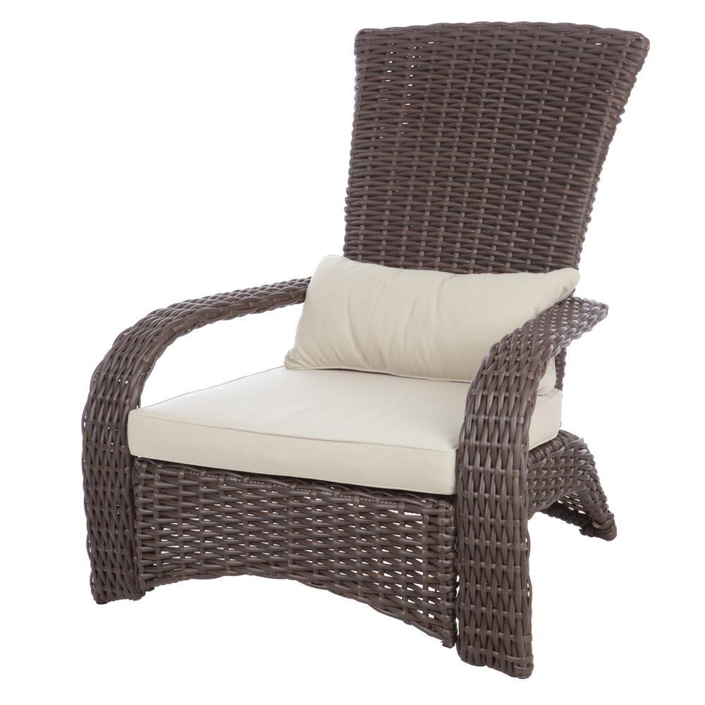 Patio Sense Deluxe Coconino Wicker Chair 62172 The Home