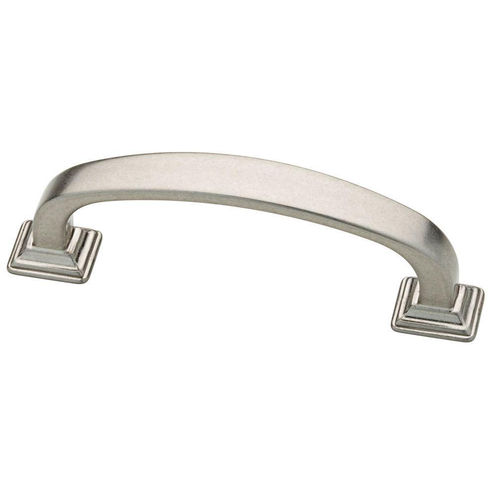 Martha Stewart Living 3 in. (76mm) Bedford Nickel Ribbon Cabinet Pull