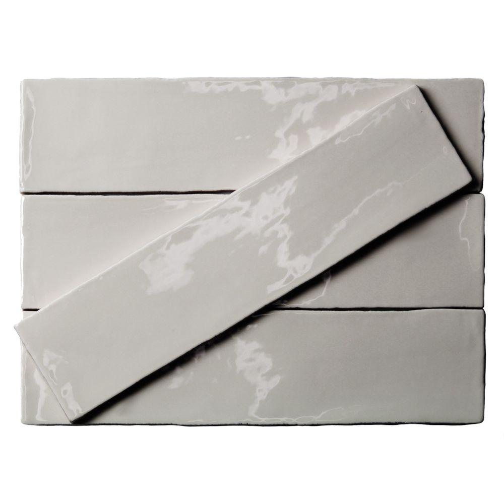 Splashback Tile Catalina Gris 3 In X 12 In X 8 Mm