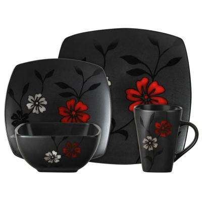 Evening Blossom 16-Piece Dinnerware Set  sc 1 st  The Home Depot & Black - Dinnerware Sets - Dinnerware - The Home Depot