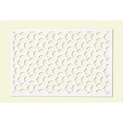 0.25 in. x 32 in. x 4 ft. White Vinyl Casablanca Decor Panel