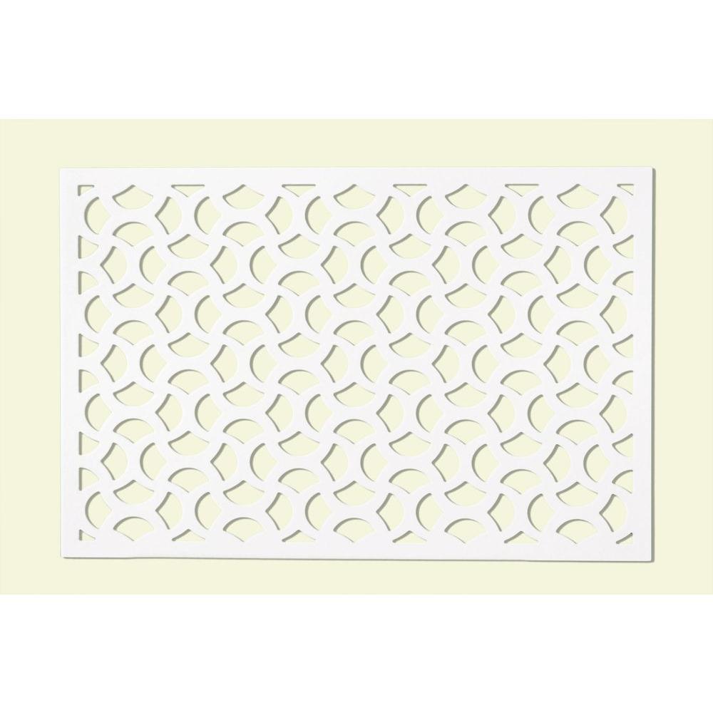 0.25 in. x 32 in. x 4 ft. White Vinyl Casablanca Decor Panel