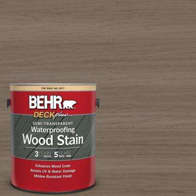 1 gal. #ST-159 Boot Hill Grey Semi-Transparent Waterproofing Exterior Wood Stain