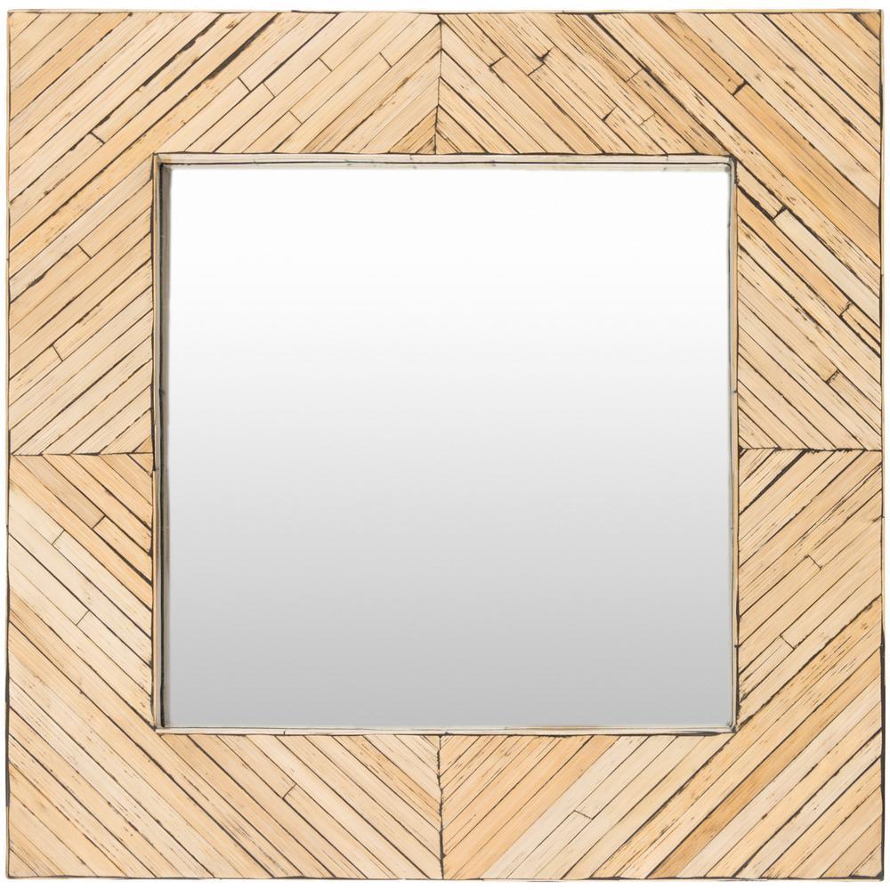 Maura 24 in. x 24 in. MDF Framed Mirror