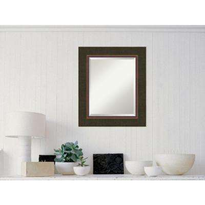 Milano Bronze Wood 23 in. W x 27 in. H Contemporary Framed Mirror