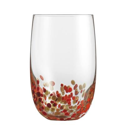 19.5 Oz. Color Accented Crystal Highball Glasses (Set of 4)