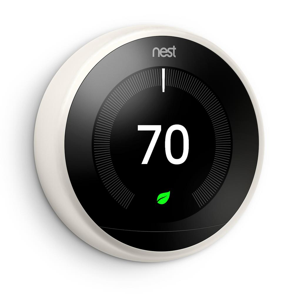 Google Nest Learning Thermostat 3rd Gen in White-T3017US - The Home on nesting diagram, nest control diagram, nest installation, nest thermostat,