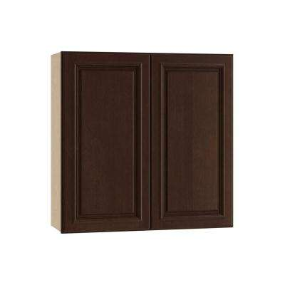 Somerset Assembled 24x30x12 in. Wall Cabinet with 2 Doors in Manganite