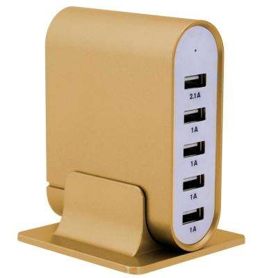 7.1 Amp 5-Port Gold Universal USB Charging Station