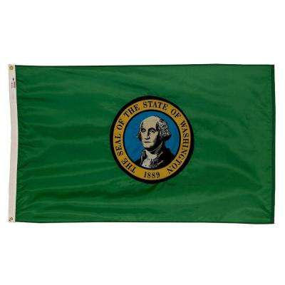 3 ft. x 5 ft. Nylon Washington State Flag