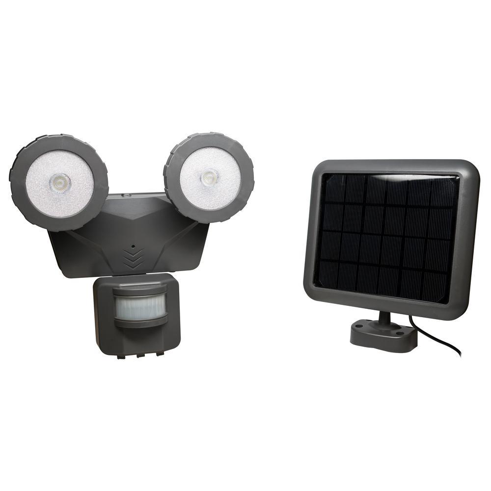 160° Dark Grey Solar LED Motion Outdoor 500 Lumen Activated Light
