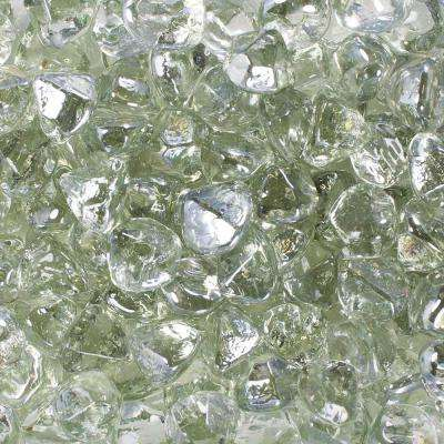 10 lbs. Clear Luster Fire Glass Diamonds in Jar