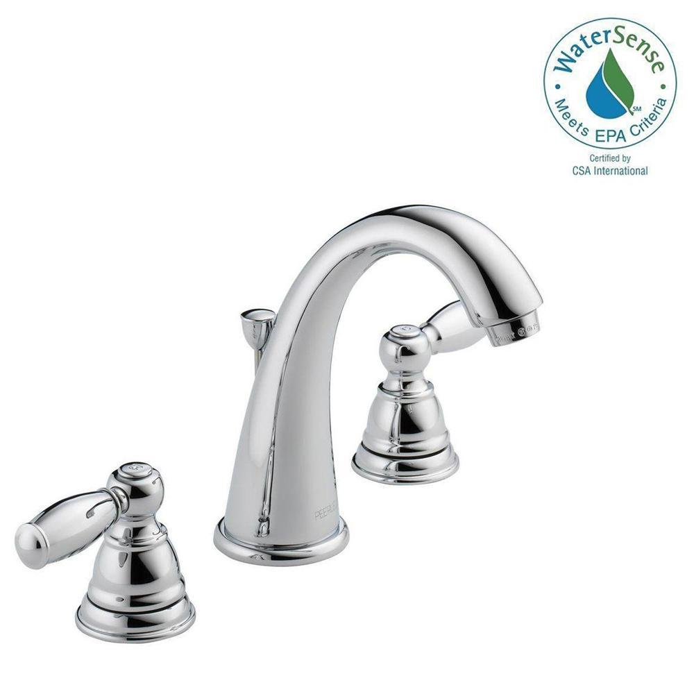 Peerless Apex 8 in. Widespread 2-Handle Bathroom Faucet in Chrome ...