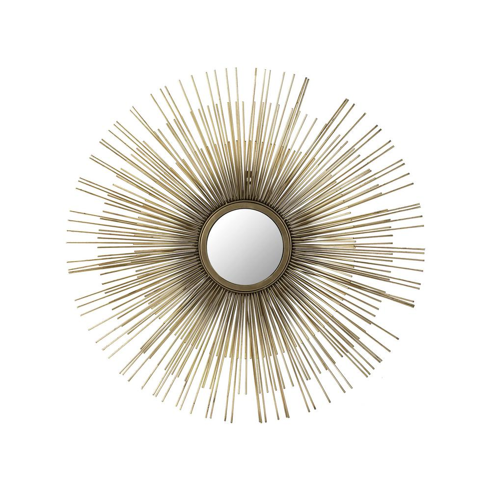 Titan Lighting Venus 32 in. Round Metal Framed Mirror