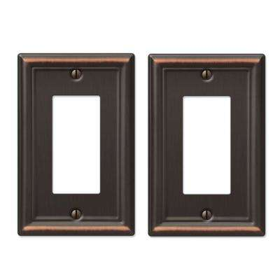 Ascher 1 Decora Wall Plate - Oil-Rubbed Bronze Stamped (2-Pack)
