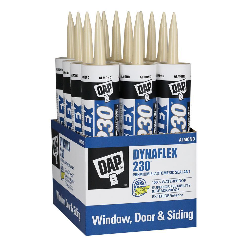 Dynaflex 230 10.1 oz. Almond Premium Indoor/Outdoor Sealant (12-Pack)