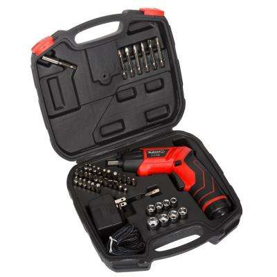 LED Rechargeable Pivoting Cordless Screwdriver Set (45-Piece)
