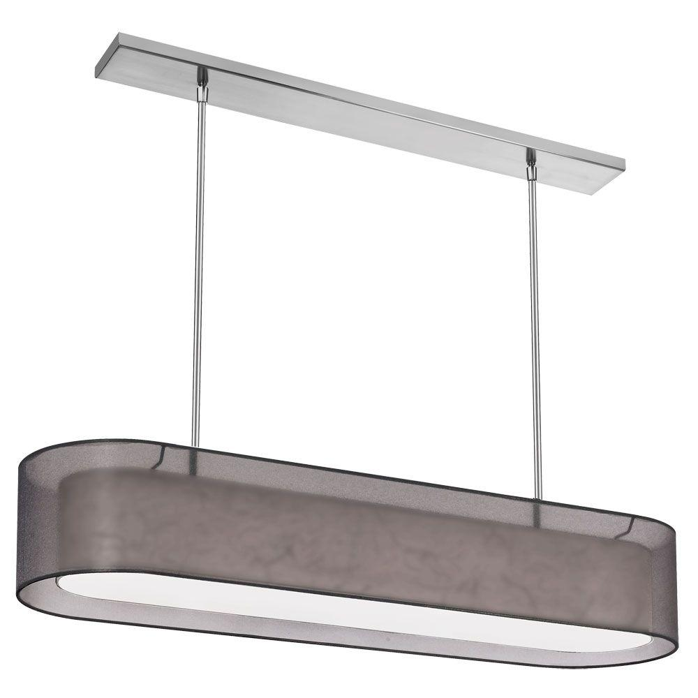 Filament Design Catherine 4-Light Polished Chrome Chandelier with Black Organza Shade