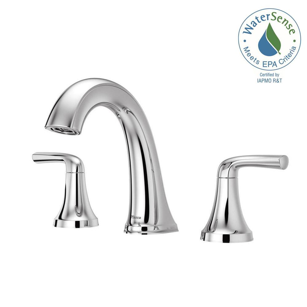 Wonderful Pfister Ladera 8 In. Widespread 2 Handle Bathroom Faucet In Spot Defense  Brushed Nickel LF 049 LRGS   The Home Depot