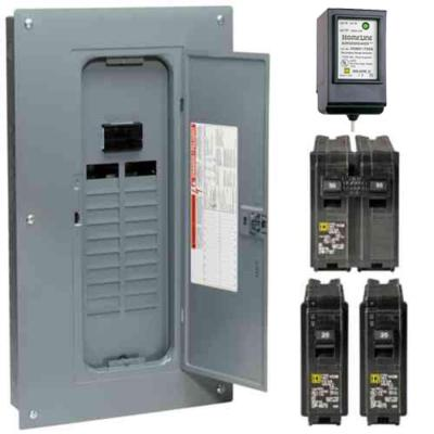 square d homeline 125 amp 24 space 48 circuit indoor main breakerhomeline 100 amp 20 space 40 circuit indoor main breaker plug on neutral
