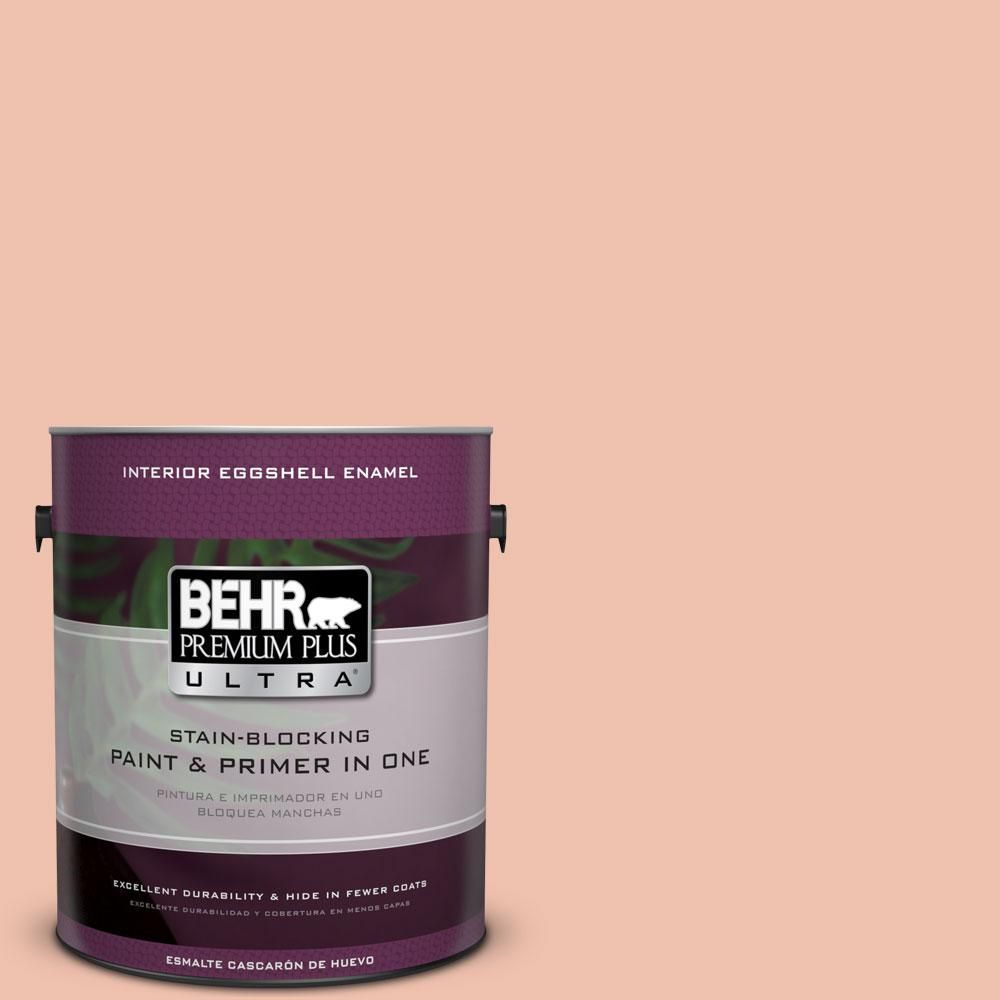 BEHR Premium Plus Ultra 1 gal. #M180-3 Flamingo Feather Eggshell Enamel Interior Paint and Primer in One