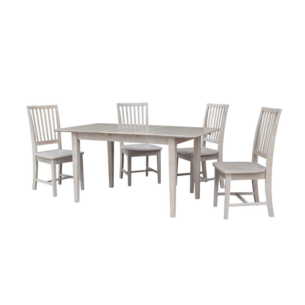 International Concepts Weathered Set Butterfly Extension Mission Chairs