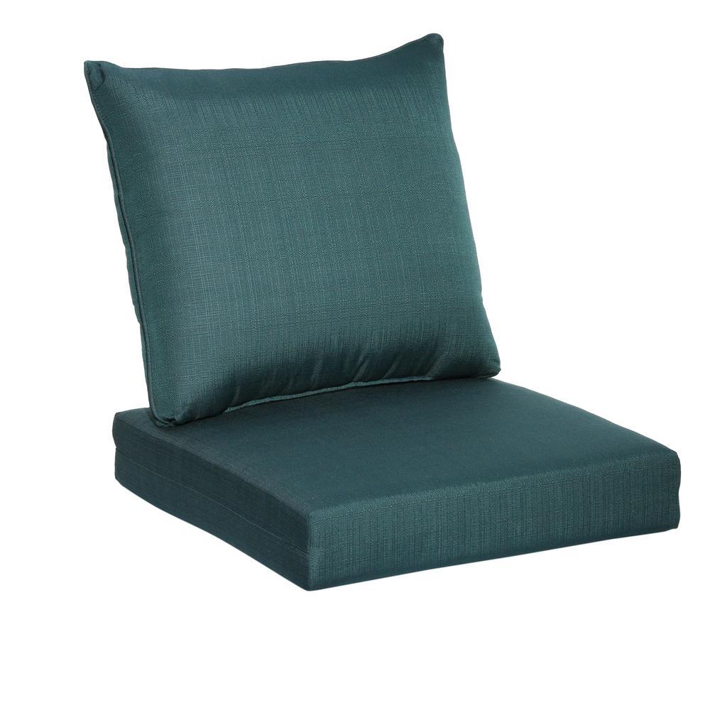 Hampton Bay 25 X 24 Outdoor Lounge Chair Cushion In Standard Charleston