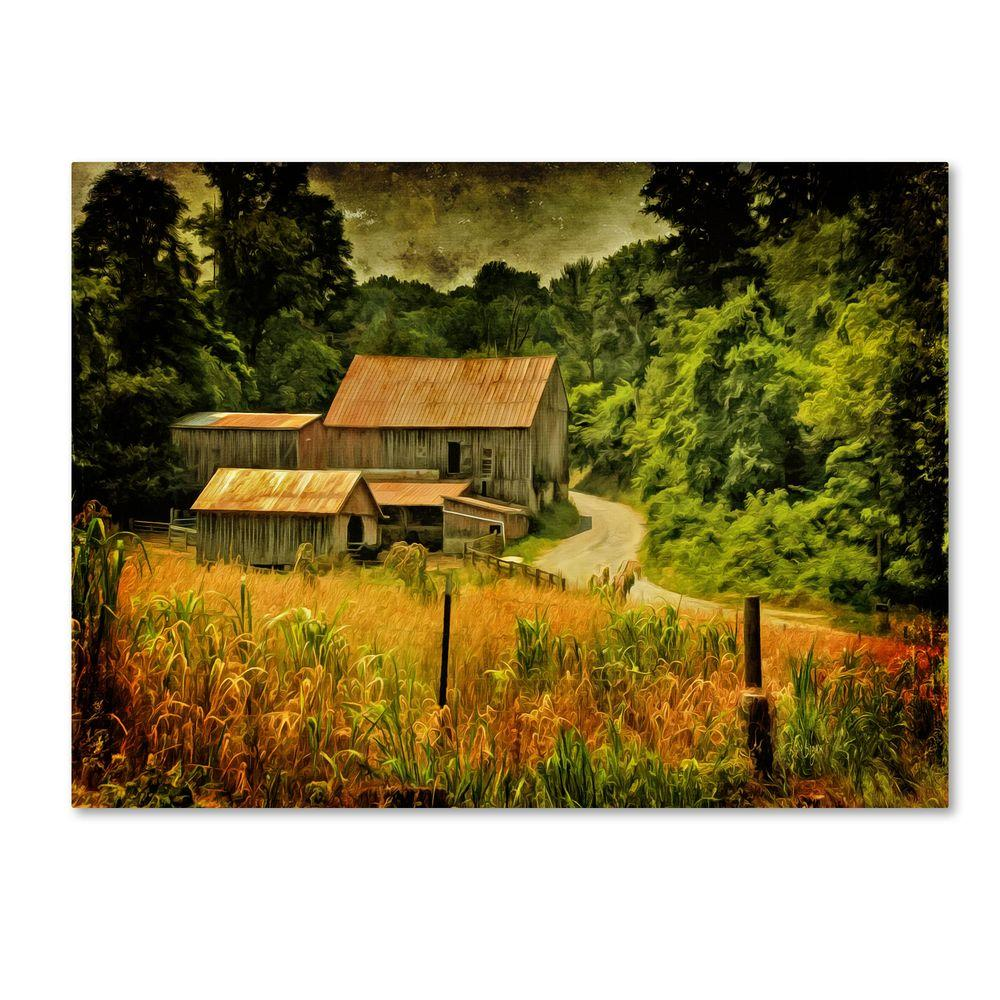 null 22 in. x 32 in. Country Road in Summer Canvas Art
