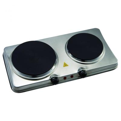 7.3 in. Electric 2-Burner Hot Stainless Plate with Temperature Controls