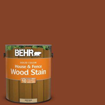 1 gal. #SC-142 Cappuccino Solid Color House and Fence Exterior Wood Stain
