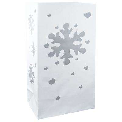 Luminaria Bags in Snowflake (24-Count)