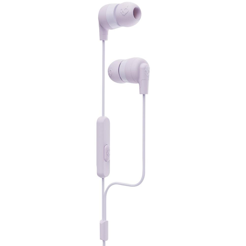 Skullcandy Ink D In Ear Earbuds With Microphone In Purple S2imy M690 The Home Depot