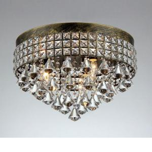 Click here to buy  Melly 3-Light Bronze Indoor Crystal Chandelier with Shade.