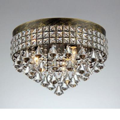 Melly 3-Light Bronze Indoor Crystal Chandelier with Shade