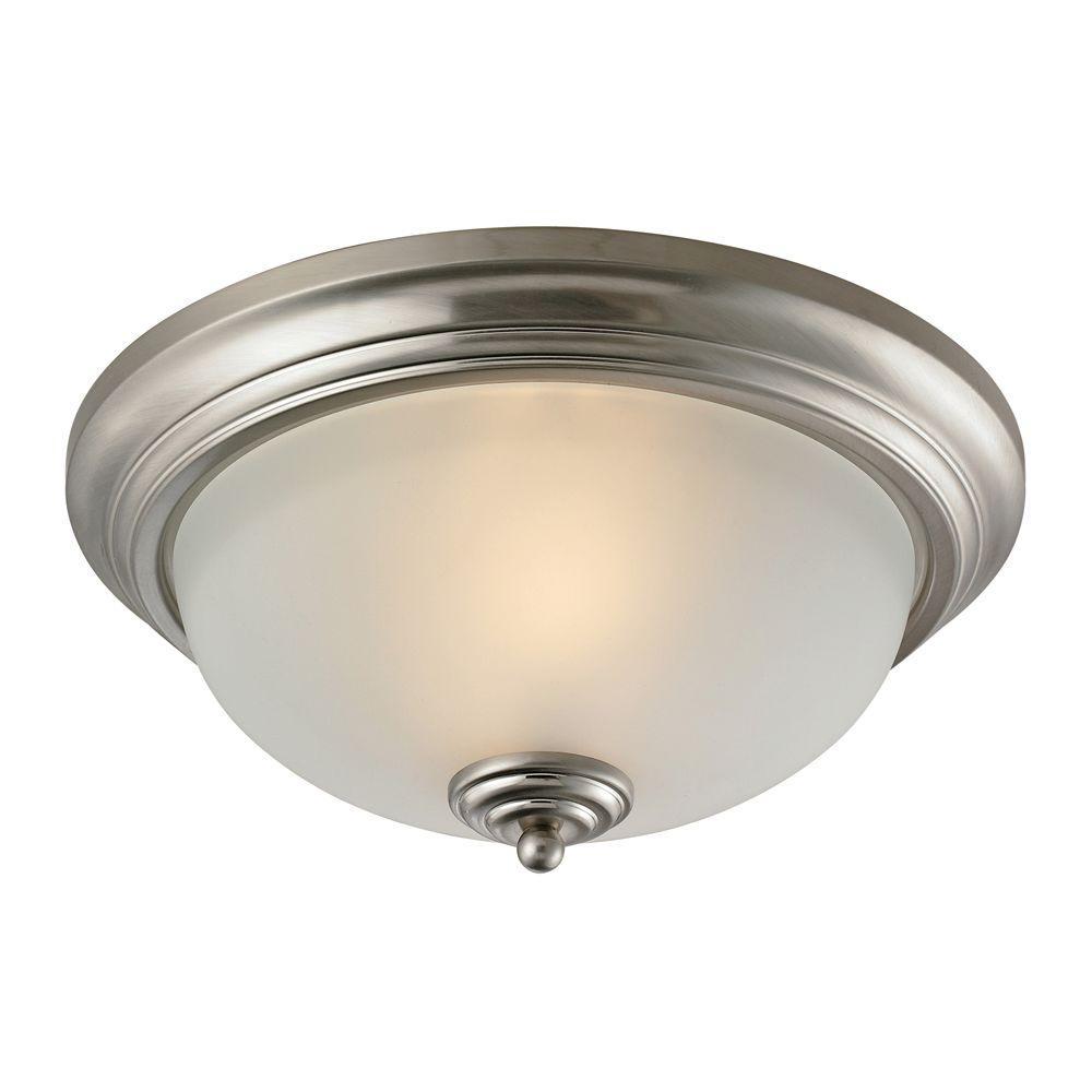 Huntington 2-Light Brushed Nickel Ceiling Flushmount
