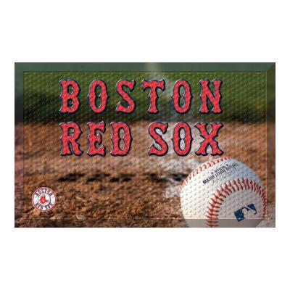 MLB - Boston Red Sox 19 in. x 30 in. Indoor/Outdoor Scraper Mat Door Mat