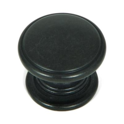Saybrook 1-1/4 in. Antique Black Round Cabinet Knob (10-Pack)