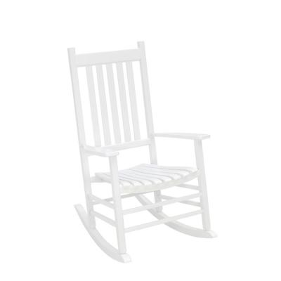 White Outdoor Hardwood Porch Rocker
