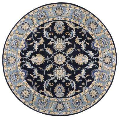 Aristocrat Blue 8 Ft. X 8 Ft. Round Area Rug