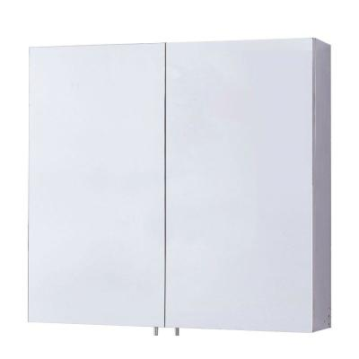 Gervais 23.6 in. x 22 in. Surface Mount Medicine Cabinet with Double Door Frameless Mirror