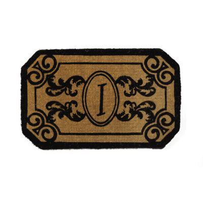 Perfect Home Kingston Rectangle Monogram Mat 30 in. x 48 in. x 1.5 in. Monogram I-DISCONTINUED