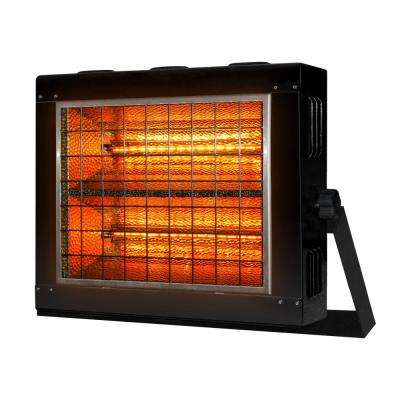 Zenith 4000/3200-Watt 240/208-Volt Infrared Radiant Portable Heater in Black